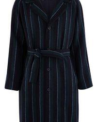 Éditions MR Tristan Belted Coat - Blue
