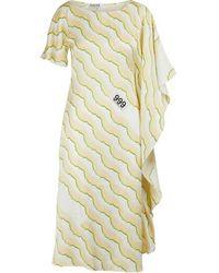 AALTO Asymmetric Dress - Yellow