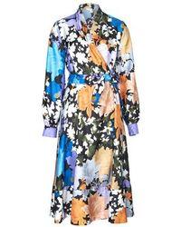 Stine Goya Reflection Silk Dress - Blue