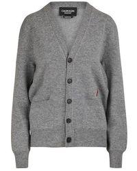 Calvin Klein Wool And Cotton Cardigan - Grey