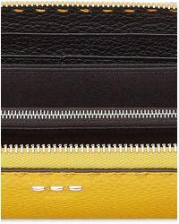 Fendi Reissverschlussbörse - Gelb