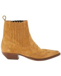 Roseanna Heeled Ankle Boots - Brown
