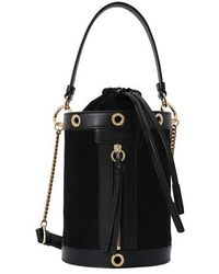 See By Chloé Leather Bucket Bag - Black