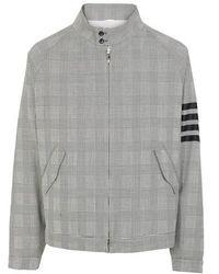 Thom Browne 4-bar Wool Blouson - Grey