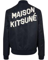 Maison Kitsuné Teddy Bomber Jacket - Blue