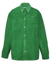 Off-White c/o Virgil Abloh Arrows Denim Shirt - Green