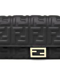 Fendi Continental With Chain - Black