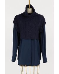 KENZO - Shirt With Mixed Knit - Lyst