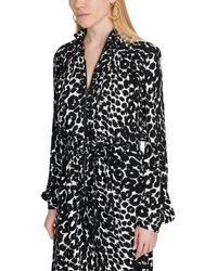 Tom Ford Ikat Leopard Print Jumpsuit - Black