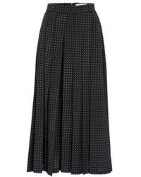 Max Mara Polka-dots Skirt - Black