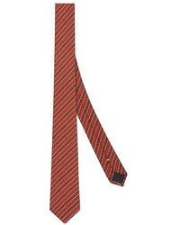 Fendi Orange Silk Tie