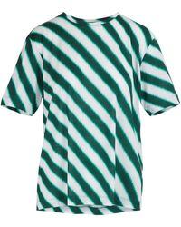 Dries Van Noten Striped T-shirt - Green