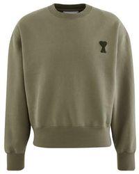 AMI De Coeur Patch Sweatshirt - Green