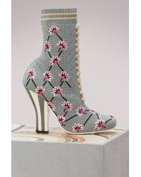 Fendi - Rockoko Socks-boots - Lyst