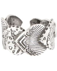 Gas Bijoux Cuore Ring - Metallic