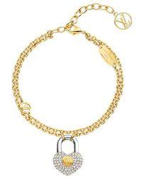 Louis Vuitton Bracelet Crazy In Lock Strass - Multicolore