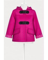 Louis Vuitton Double Cashgora Cropped Duffle-coat - Pink