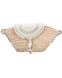 Chloé Marcie Small Basket Bag - Natural