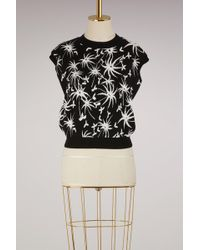 Lanvin - Graphic Printed Knit Top - Lyst
