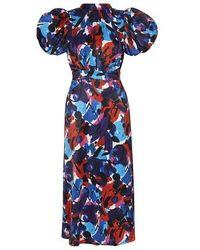 ROTATE BIRGER CHRISTENSEN Dawn Dress - Blue