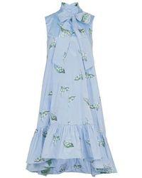 RED Valentino Taft-Kleid - Blau