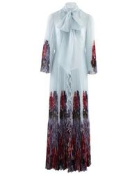 Valentino Long Dress With Ruffles - Multicolour