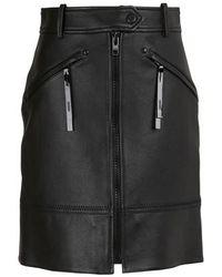 KENZO Short Zipped Skirt - Black