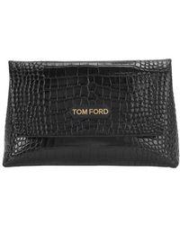 Tom Ford Label Medium Bag - Black