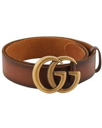 Gucci - GG Leather Belt - Lyst