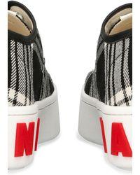 Marni Tartan-Sneakers aus Wolle - Schwarz