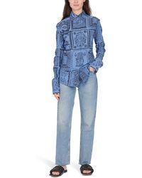 Acne Studios Printed Shirt - Blue
