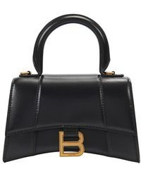 Balenciaga Hourglass Top Handle XS - Schwarz