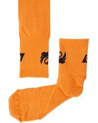 Off-White c/o Virgil Abloh Swan Socks - Orange