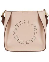 Stella McCartney Stella Logo Mini Cross-body Bag - Natural