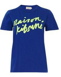 Maison Kitsuné - Handwriting T-shirt - Lyst