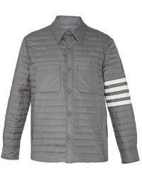 Thom Browne 4-bar Winter Coat - Gray