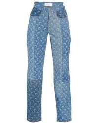 Marine Serre Jeans Moon - Blau