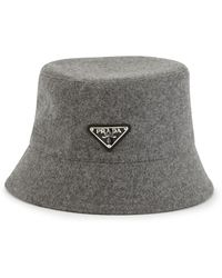 Prada Loden Hat - Gray