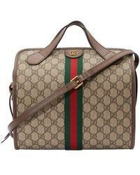 Gucci GG Supreme Duffle Bag - Natural