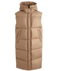 Moncler Comoe long down jacket - Natur