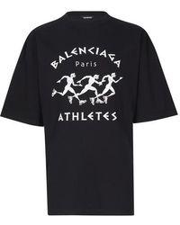 Balenciaga Oversize-T-Shirt - Schwarz