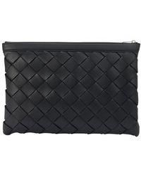 Bottega Veneta Intrecciato Briefcase - Black