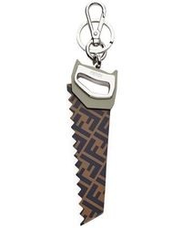 Fendi Saw Key Charm - Metallic