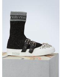 Miu Miu - Jewel Socks Sneakers - Lyst
