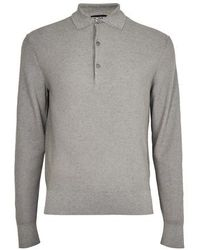 Tom Ford Polo en maille - Gris