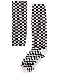Off-White c/o Virgil Abloh Checkered Socks - Black