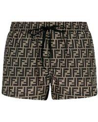 Fendi Shorts aus Stoff - Braun