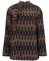 Stella McCartney Haut en soie - Multicolore
