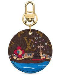Louis Vuitton Vivienne Xmas Bag Charm And Key Holder - Blue