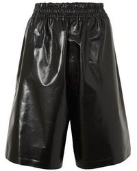 Bottega Veneta Shiny Leather Trousers - Black